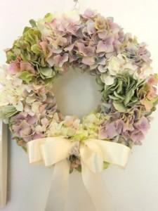 紫陽花ウェルカムリース