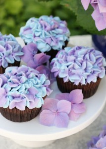 紫陽花カップケーキ